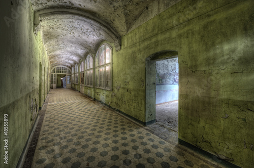 Wall Murals Old Hospital Beelitz green floor