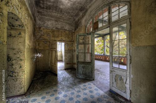 Photo sur Toile Ancien hôpital Beelitz Beelitz Floor