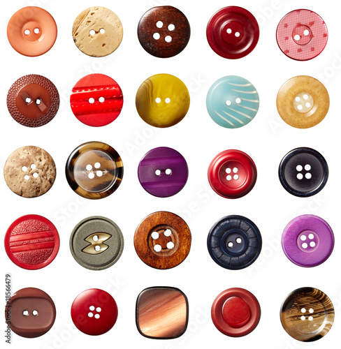 Poster Macarons sewing button clothing