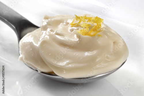 Mayonnaise on a Spoon Wallpaper Mural