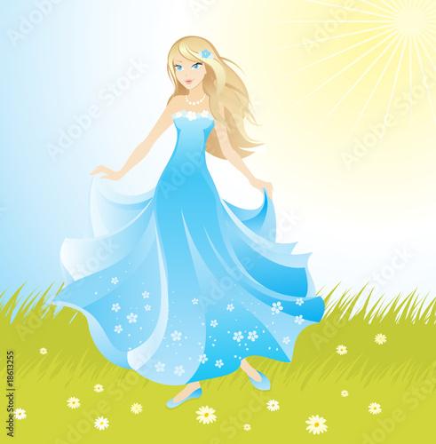 Poster Castle beautiful princess