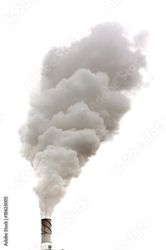 Fotobehang Rook Dirty smoke isolated