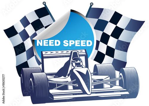 Foto op Plexiglas F1 speed