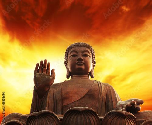 Tuinposter Boeddha Statue of buddha