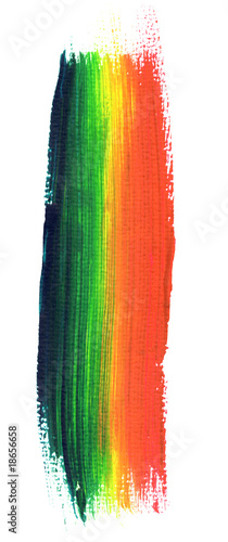 Photo  rainbow paint brush