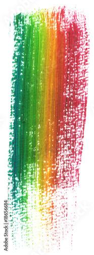 rainbow paint brush Wallpaper Mural