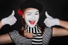Happy Mime Portrait