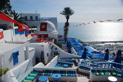 Poster Tunesië Le Café des Délices à Sidi Bou Said