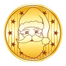 Santa Golden Coin
