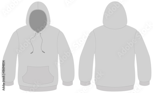 Hooded sweater template vector illustration - Buy this stock vector ...
