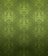 Luxury Green Ornamental Pattern
