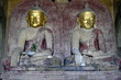canvas print picture - ancient Buddha statues inside Bagan Temple in Burma