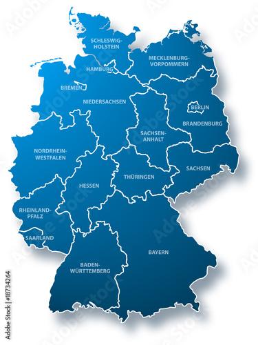 deutschland karte kaufen Deutschland Karte Bundesländer – kaufen Sie diese Illustration und
