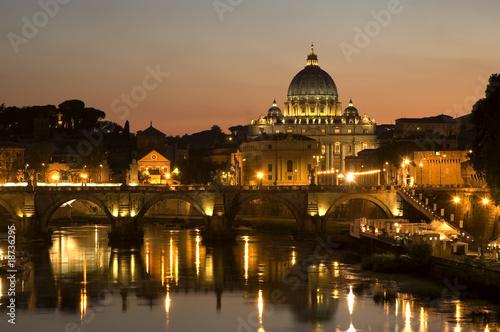 Poster Rome San Pietro al tramonto - Roma