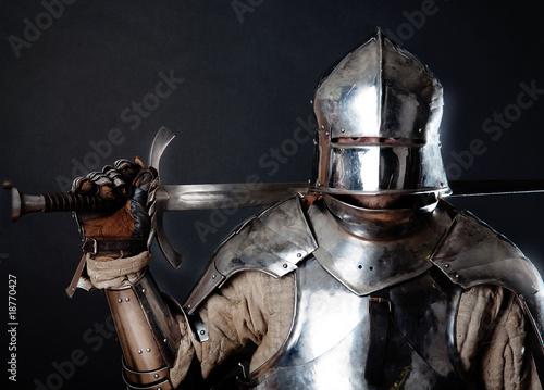 Great knight holding his sword Tapéta, Fotótapéta