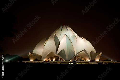 Garden Poster Temple Lotus Temple in New Delhi