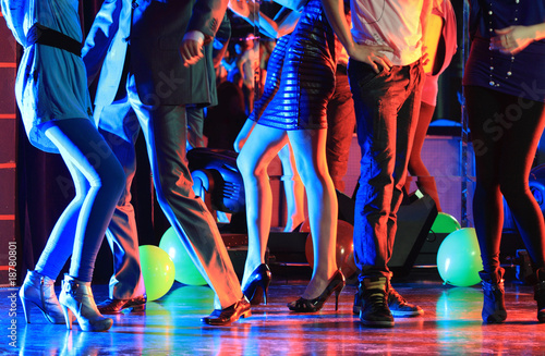 Küchenrückwand aus Glas mit Foto Tanzschule Night club dancing party