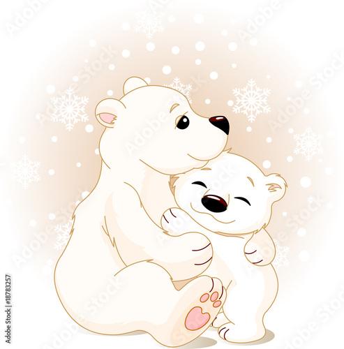 Printed kitchen splashbacks Fairytale World Mother and baby bear