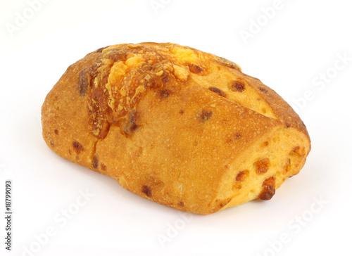 Fototapeta Freshly baked cheddar cheese bread loaf