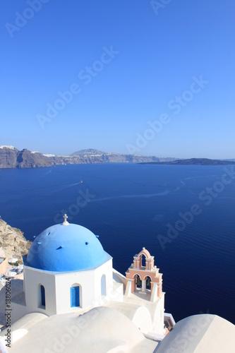 Papiers peints Santorini Eglise à santorin - Cyclades - Grèce