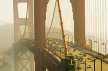 Golden Gate Bridge Rush Hour Traffic, San Francisco