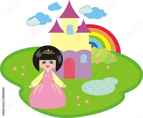 Poster Castle The little princess and the fantastic castle