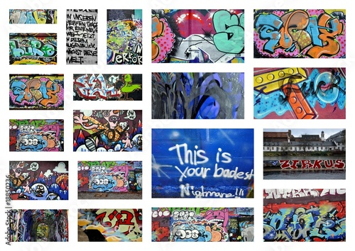 Deurstickers Graffiti collage graffiti...collage