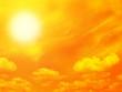 Leinwanddruck Bild Orange sky and sun