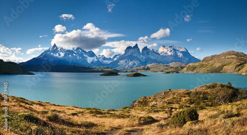Fotografie, Tablou Torres del Paine National Park - Lake Pehoe & Los Cuernos