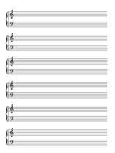 Blank Sheet Of Music Manuscript (piano) (vector)