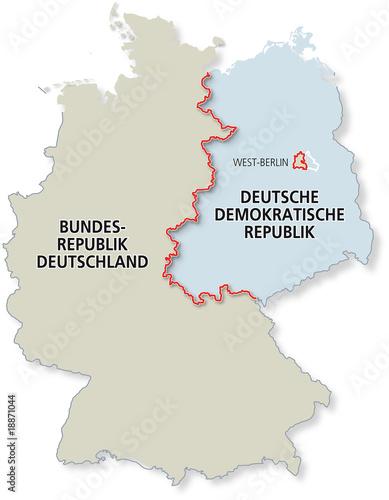 Karte Geteiltes Deutschland 1961 1989 Buy This Stock Vector And