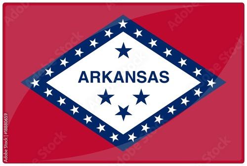 Photo drapeau glassy arkansas flag