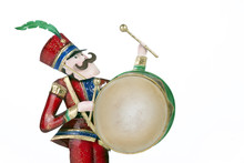Toy Soldier Playing Drum Isola...