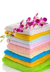 Obraz na płótnie Canvas colorful towels