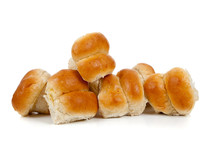 Golden Baked Dinner Rolls On A...