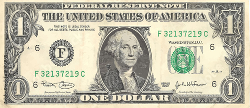 Fototapeta One dollar obraz