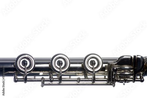 Papiers peints Musique Flute Keys Isolated on White