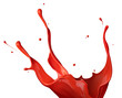 canvas print picture - red paint splash