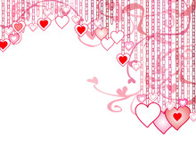 Decorative Hearts For Valentin...