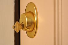 Key In A Dead Bolt Lock