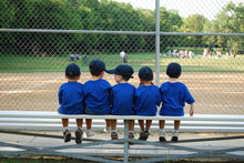Baseball Team On A Bench