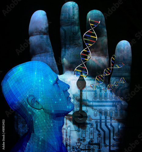 Fotografie, Obraz  Machine DNA