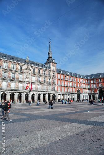 In de dag Madrid Sur la plaza mayor de madrid