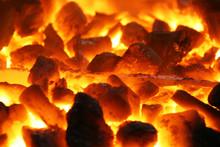 Glowing Coals With Metal Stuff...