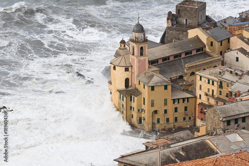 Fotografiet  Storm on Camogli