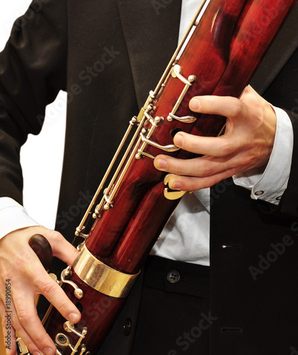 Playing bassoon Canvas Print