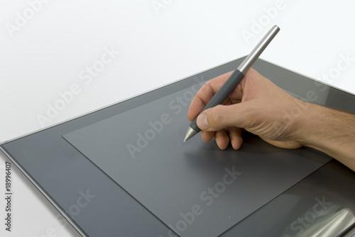 Fotografering  Tablette graphique format A4