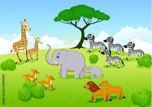 Foto op Aluminium Zoo Animal safari