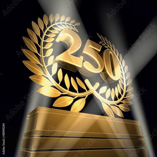 Poster  250 birthday anniversary celebration