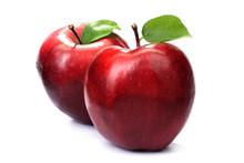 Fresh Apples On White